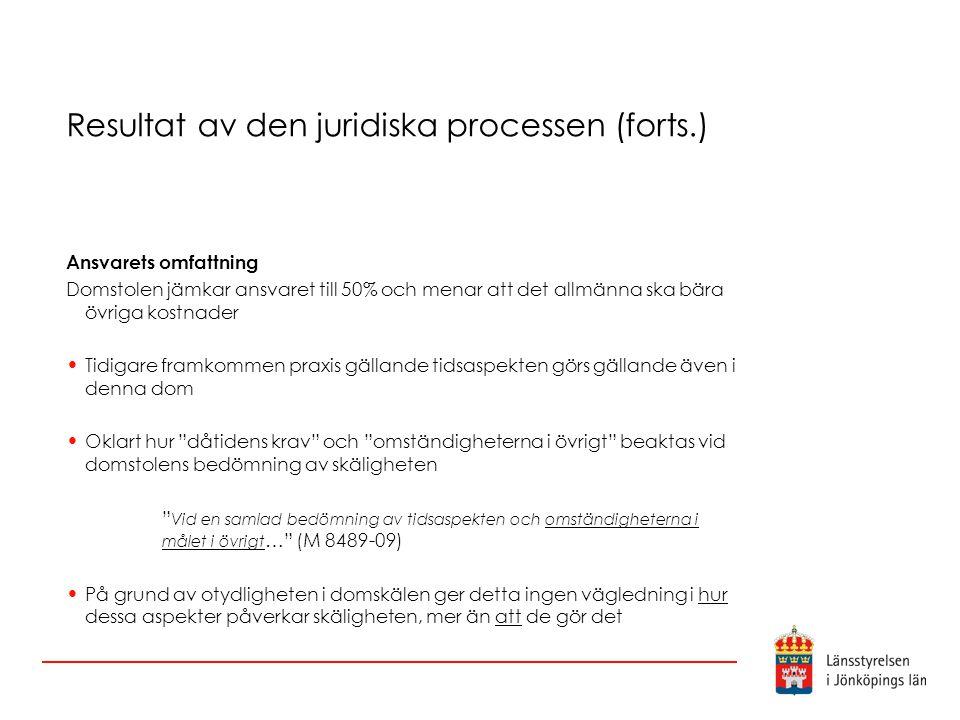 Resultat av den juridiska processen (forts.)