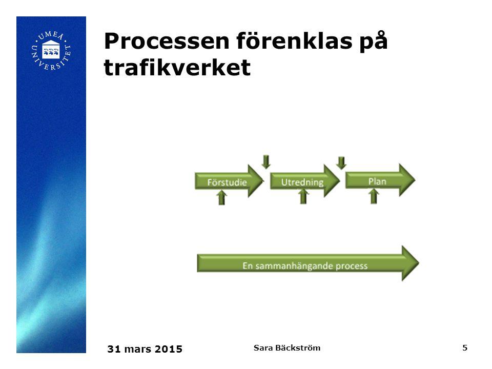 Processen förenklas på trafikverket