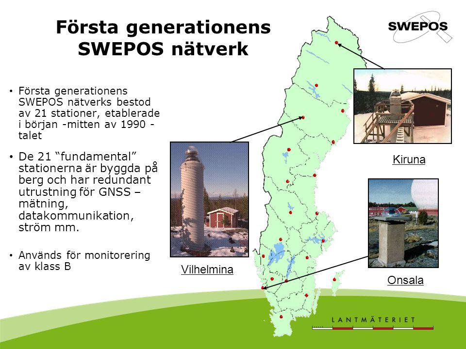Första generationens SWEPOS nätverk