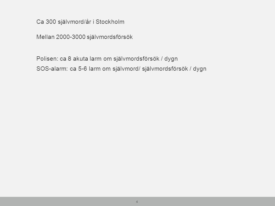Ca 300 självmord/år i Stockholm
