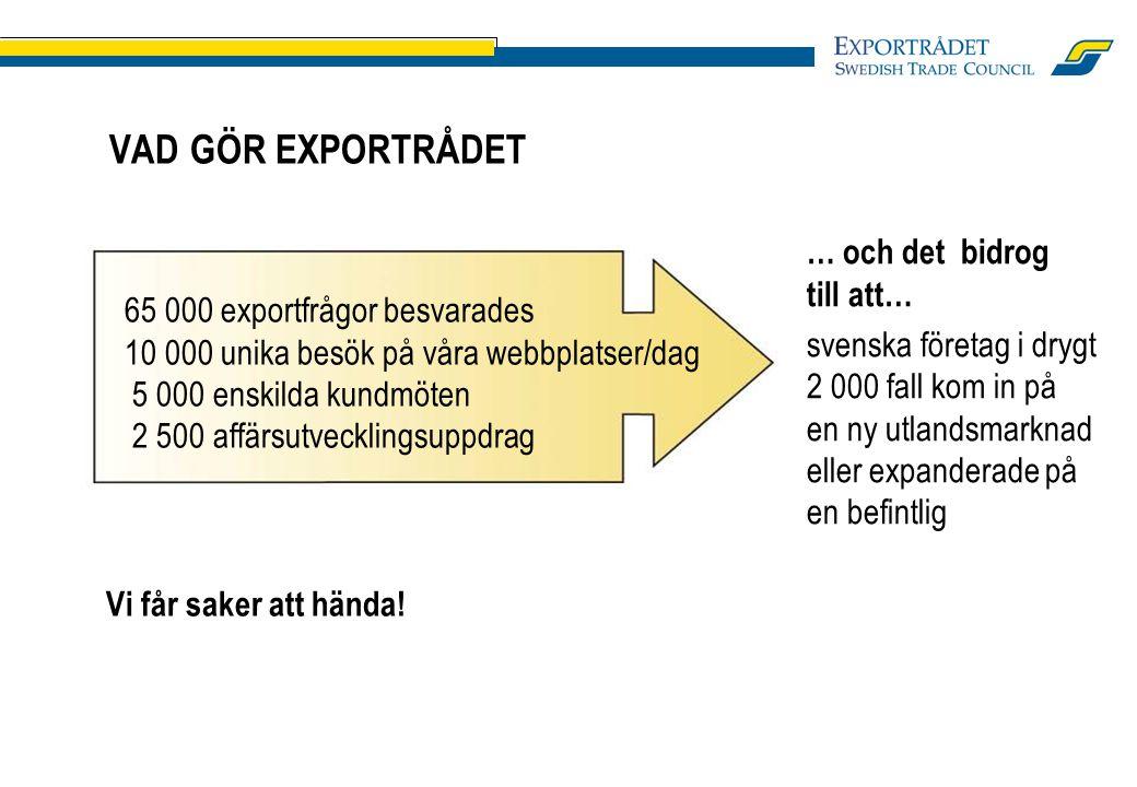 KONTAKTADRESS Sverre Nielsen Exportrådet, Oslo Tel.: 0047 62 36 30 17