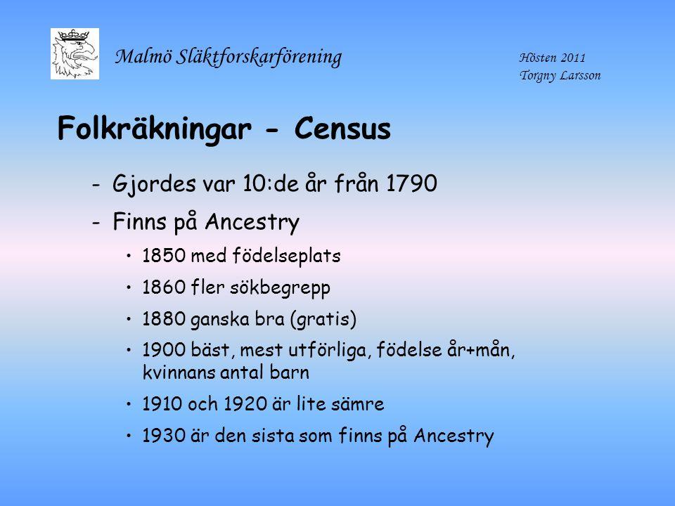 Folkräkningar - Census
