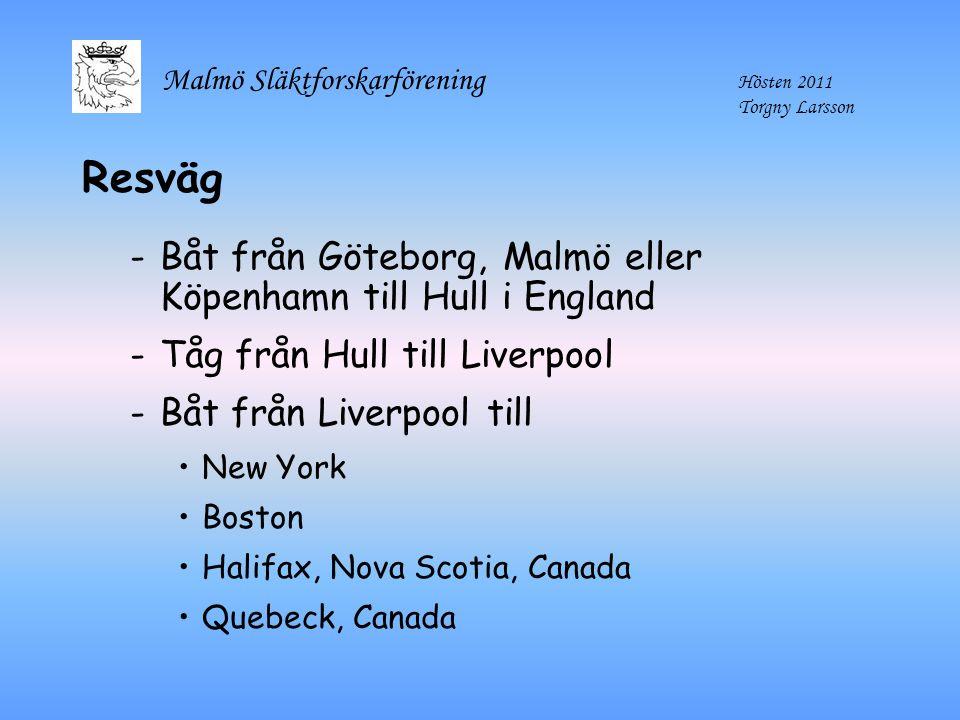 Resväg Båt från Göteborg, Malmö eller Köpenhamn till Hull i England