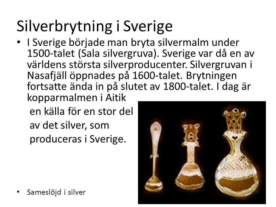 Silverbrytning i Sverige
