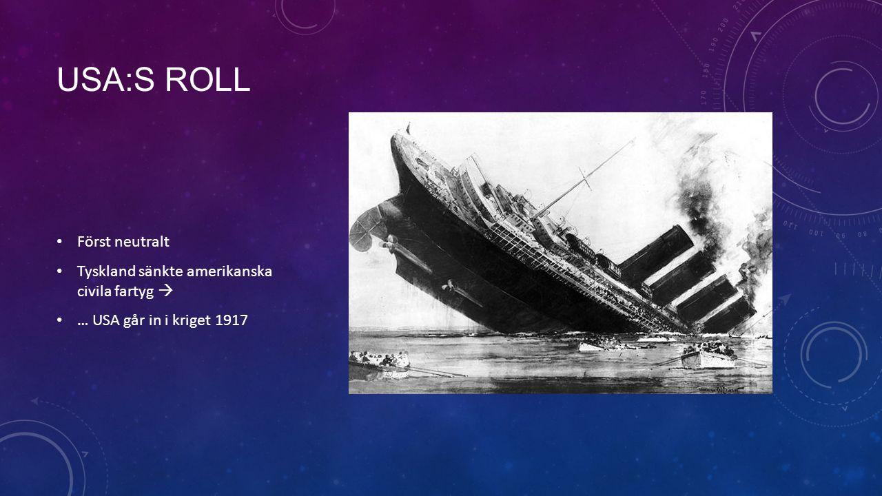 Usa:s roll Först neutralt Tyskland sänkte amerikanska civila fartyg 