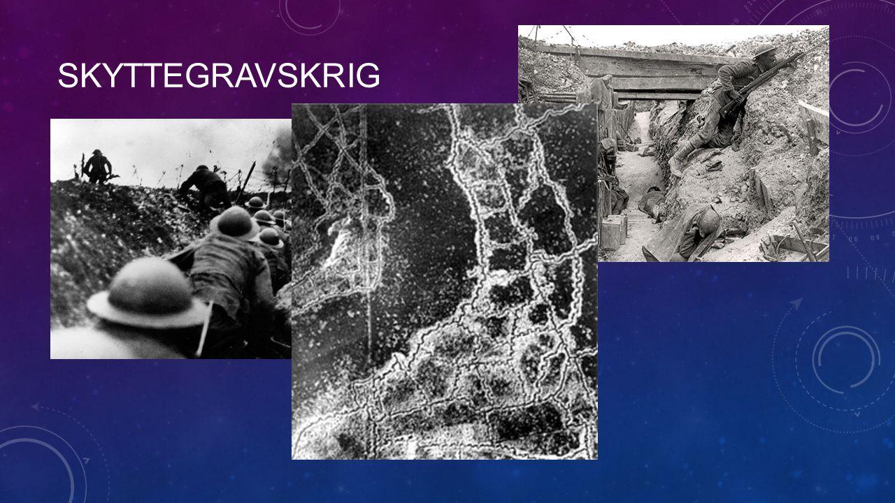 skyttegravskrig Bilden i mitten är fr 1917: Ty till hö o Stbr till vä
