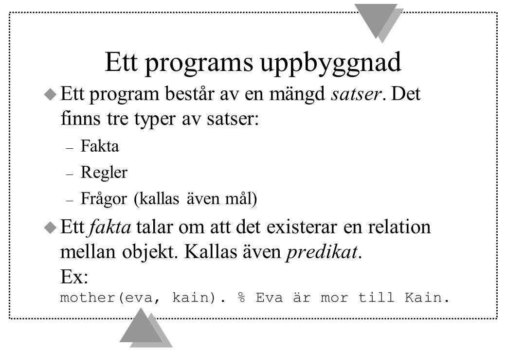 Ett programs uppbyggnad