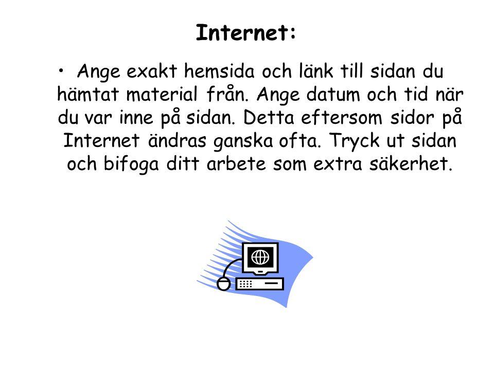 Internet: