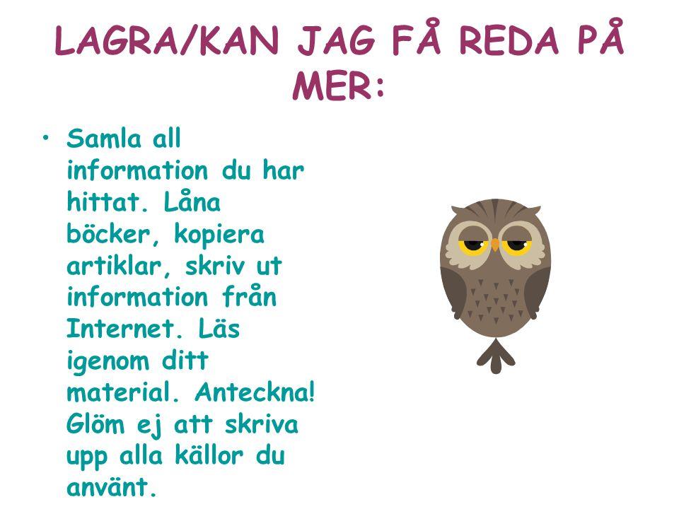 LAGRA/KAN JAG FÅ REDA PÅ MER: