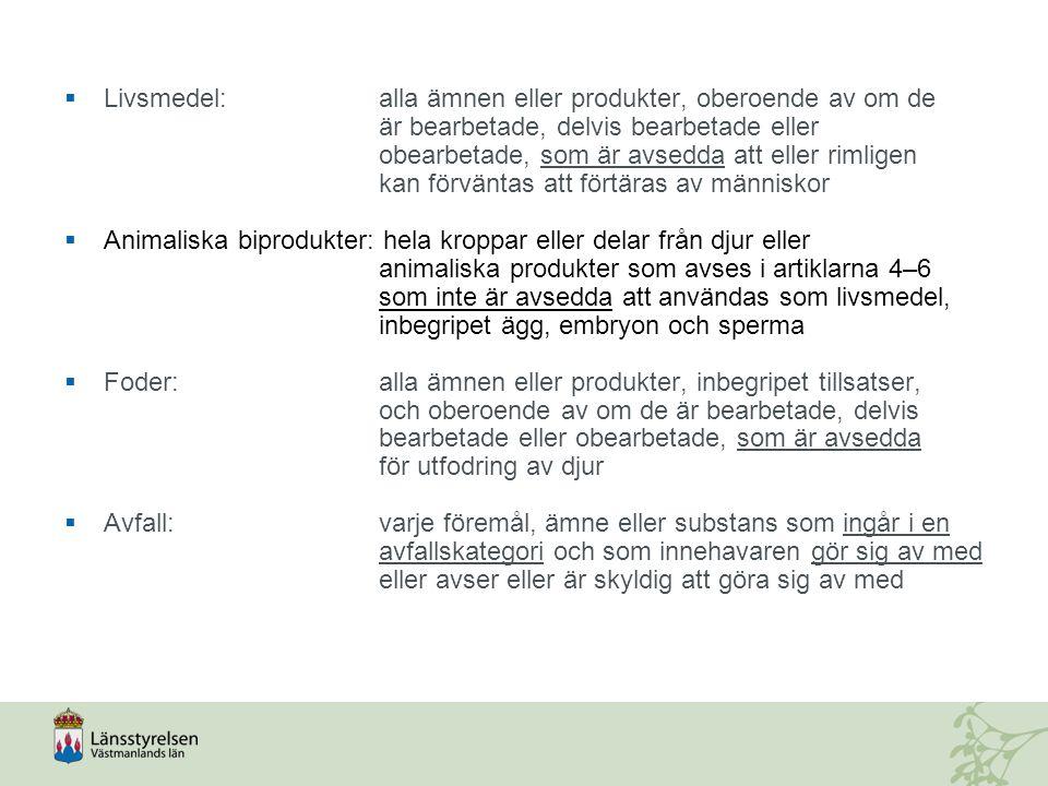 Livsmedel:. alla ämnen eller produkter, oberoende av om de