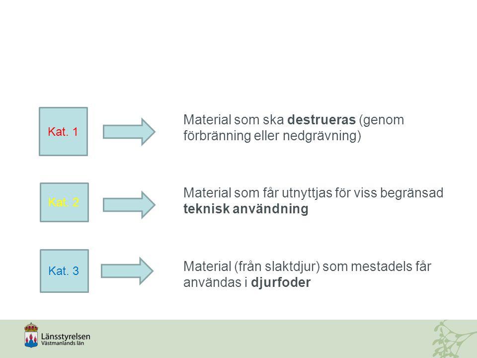 Material som ska destrueras (genom förbränning eller nedgrävning)