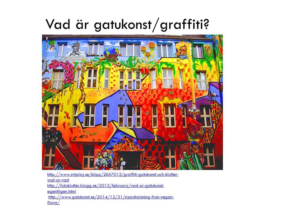 Vad är gatukonst/graffiti