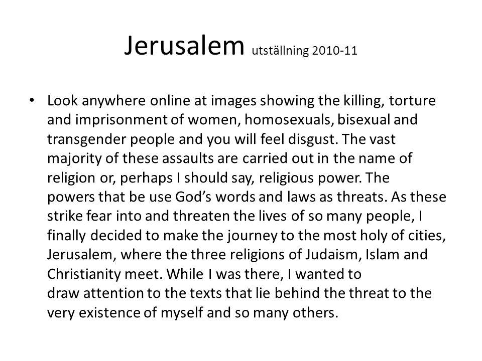 Jerusalem utställning 2010-11