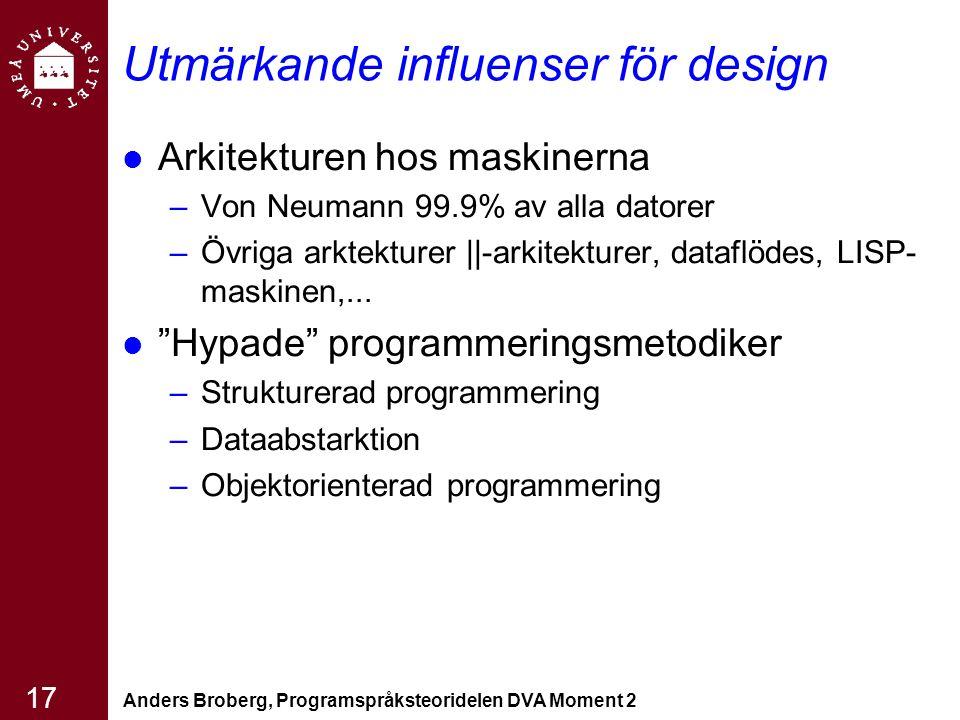 Utmärkande influenser för design