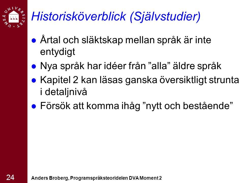 Historisköverblick (Självstudier)