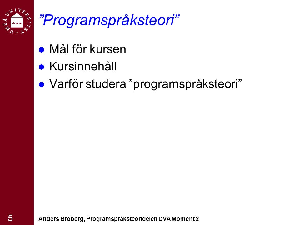 Programspråksteori