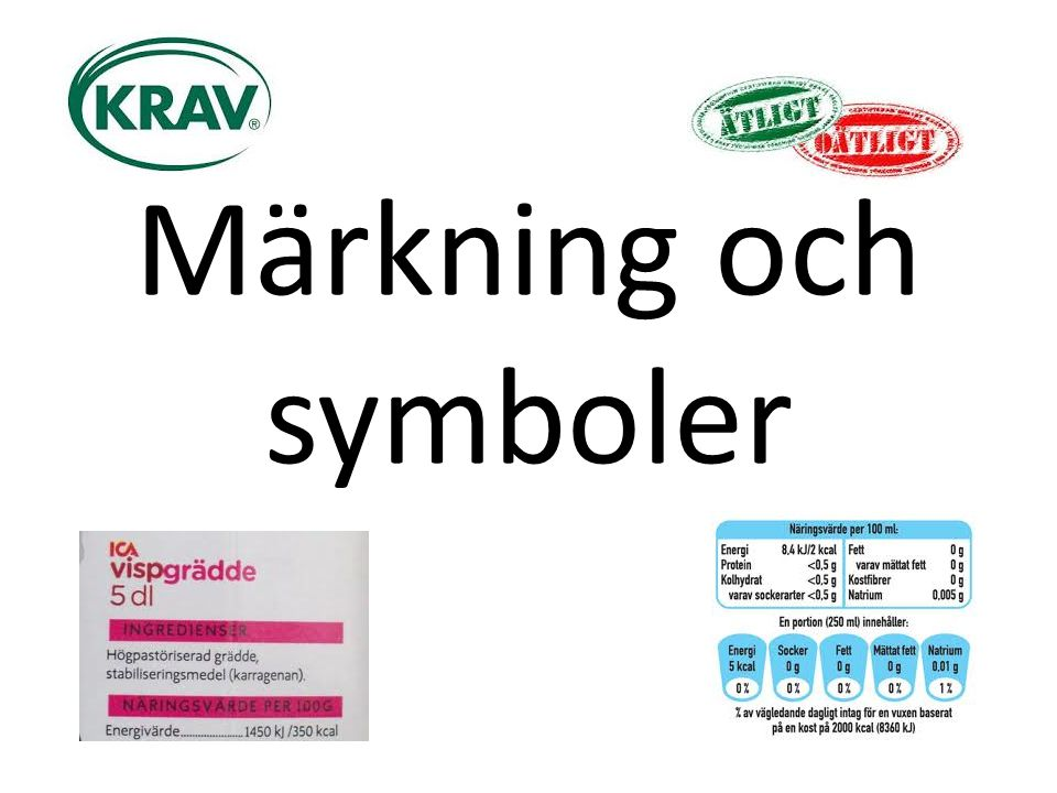 Märkning och symboler