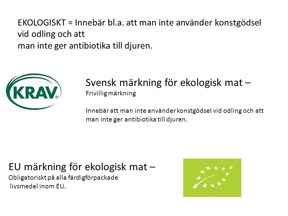 Svensk märkning för ekologisk mat –