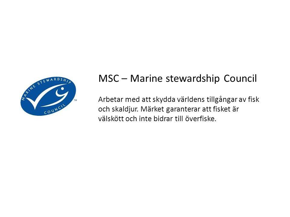 MSC – Marine stewardship Council