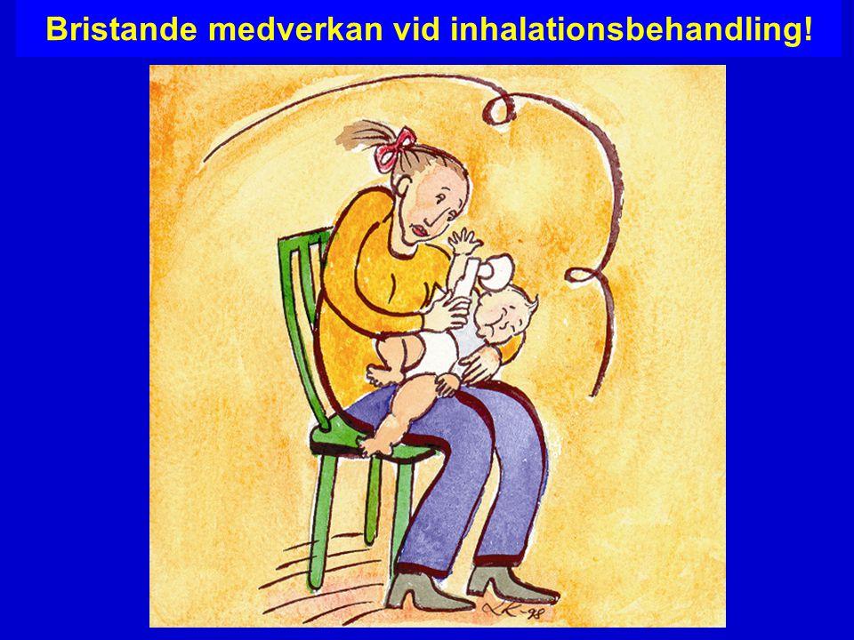 Bristande medverkan vid inhalationsbehandling!