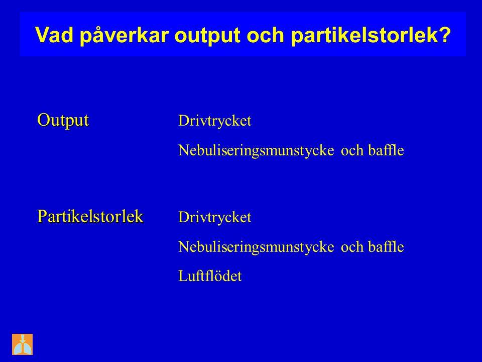 Vad påverkar output och partikelstorlek