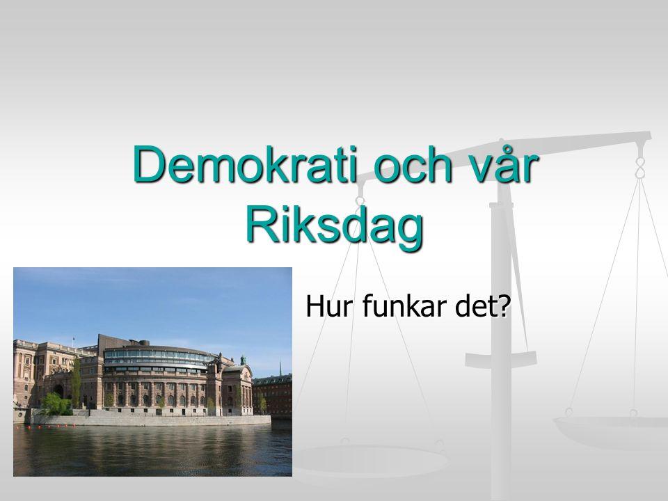 Demokrati och vår Riksdag