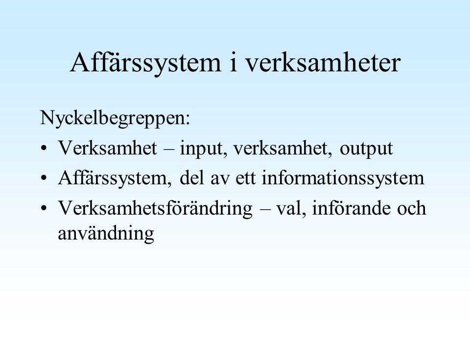 Affärssystem i verksamheter