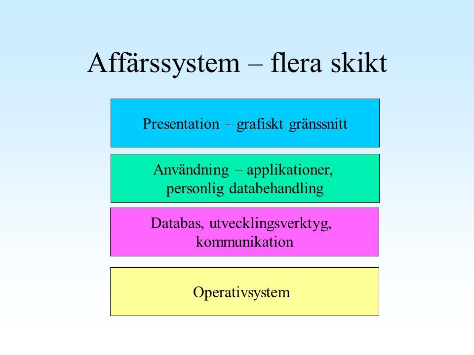 Affärssystem – flera skikt