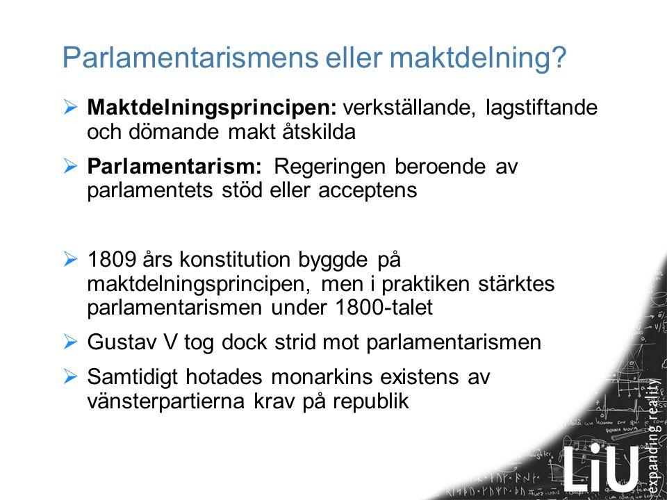 Parlamentarismens eller maktdelning