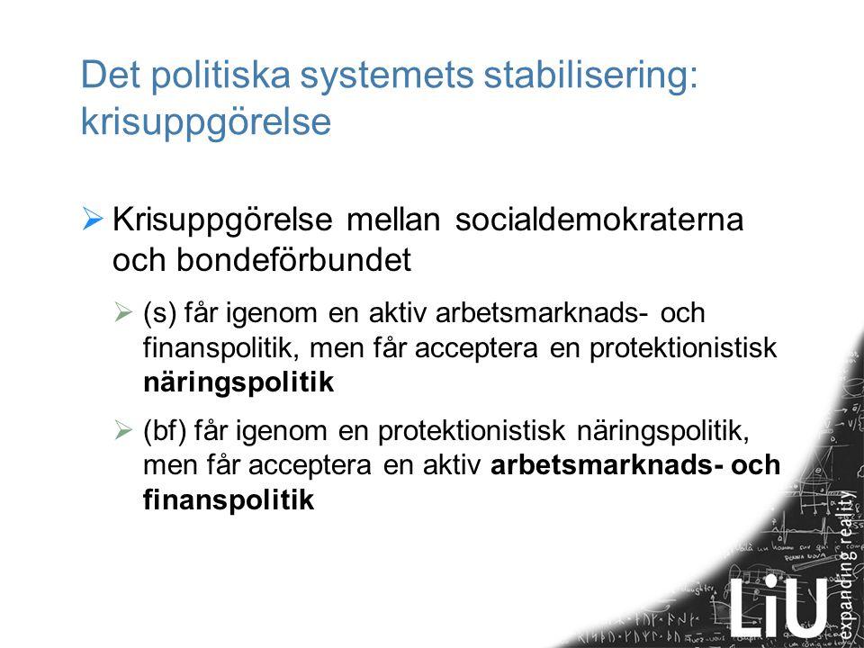 Det politiska systemets stabilisering: krisuppgörelse