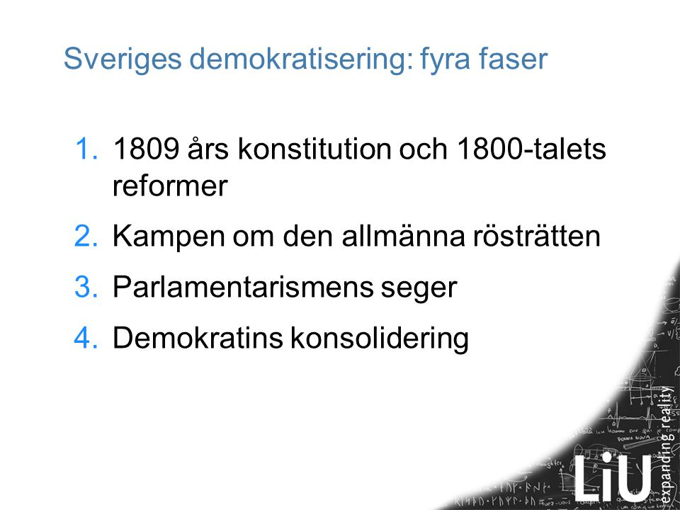 Sveriges demokratisering: fyra faser