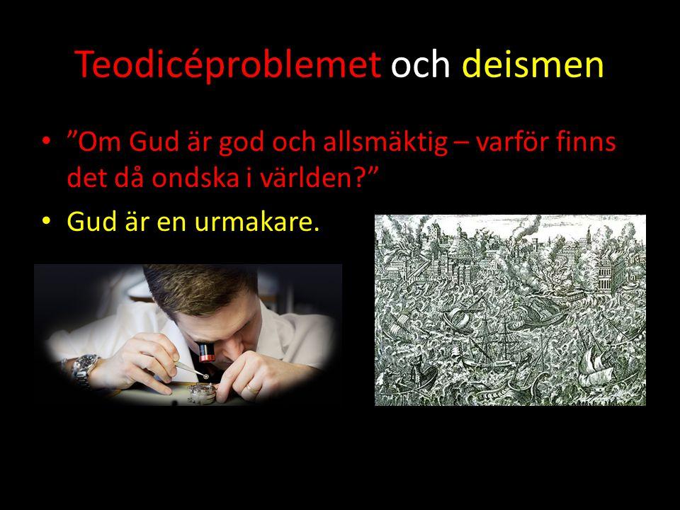Teodicéproblemet och deismen