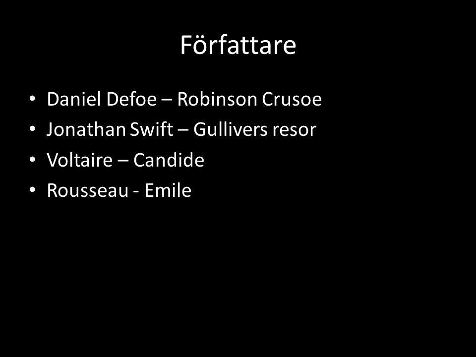 Författare Daniel Defoe – Robinson Crusoe