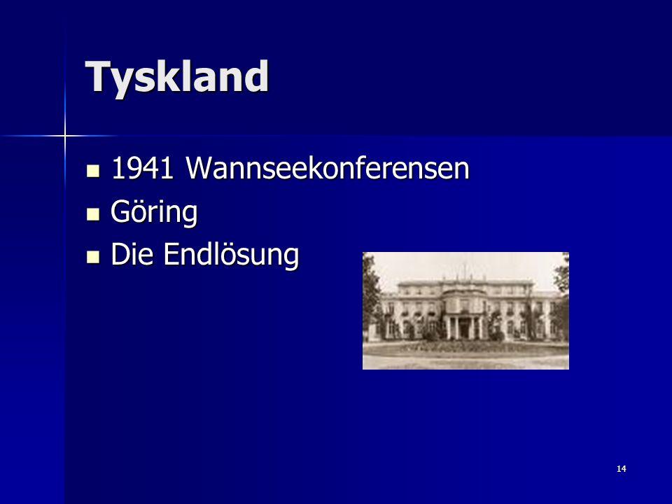 Tyskland 1941 Wannseekonferensen Göring Die Endlösung