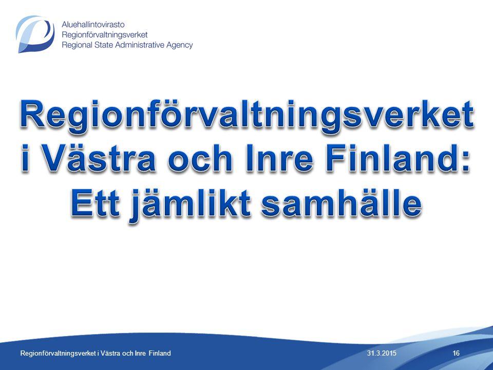Regionförvaltningsverket i Västra och Inre Finland: