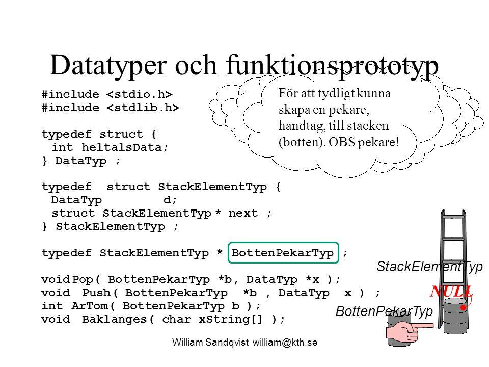 Datatyper och funktionsprototyp