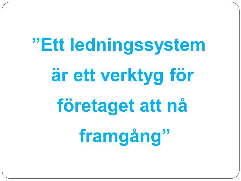 Ett ledningssystem är ett verktyg för företaget att nå framgång