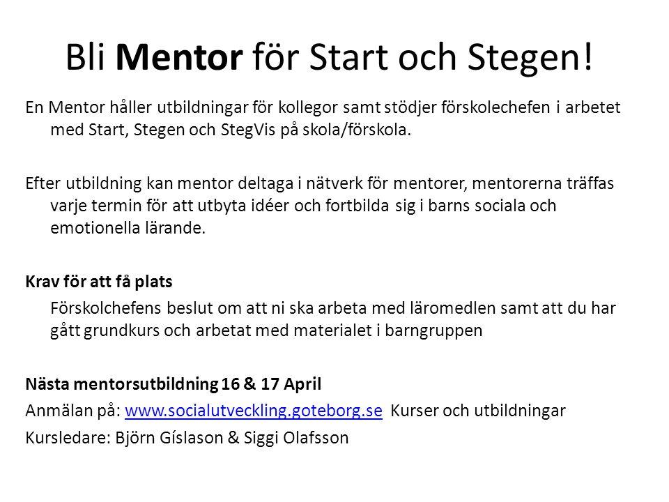 Bli Mentor för Start och Stegen!