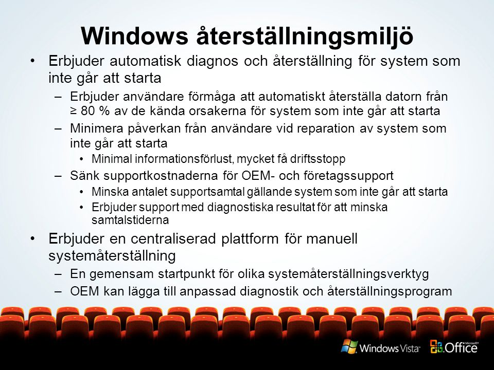 Windows återställningsmiljö