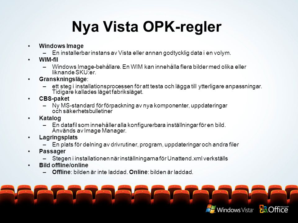Nya Vista OPK-regler Windows Image