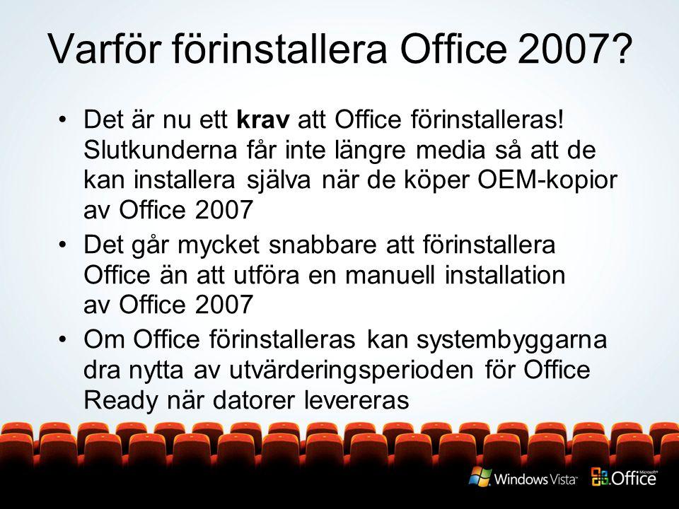 Varför förinstallera Office 2007