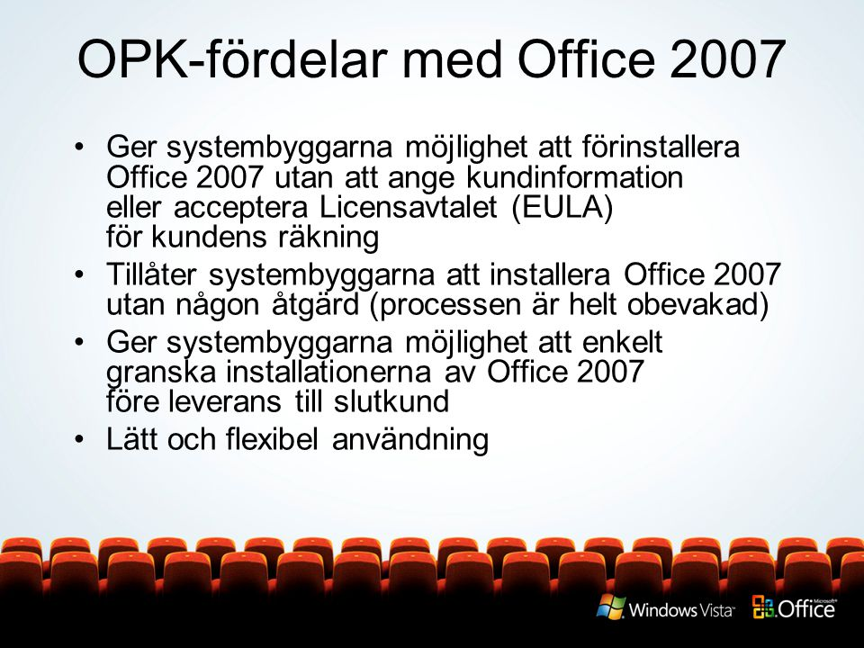 OPK-fördelar med Office 2007
