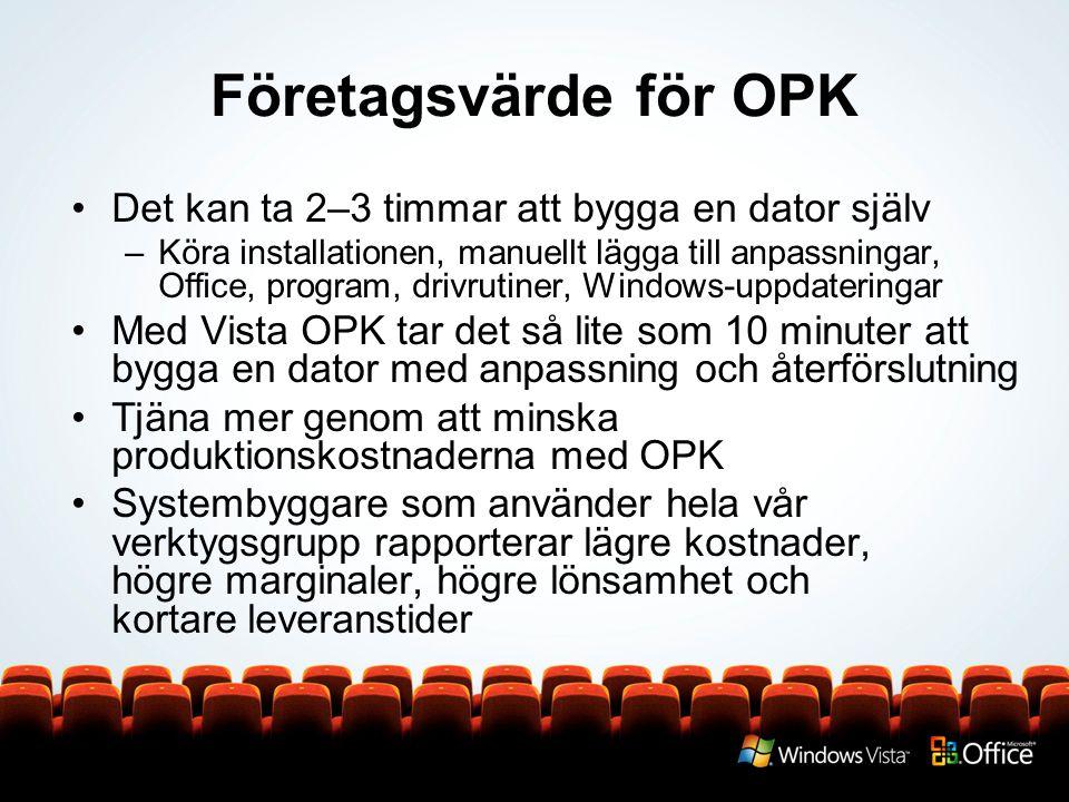Företagsvärde för OPK Det kan ta 2–3 timmar att bygga en dator själv