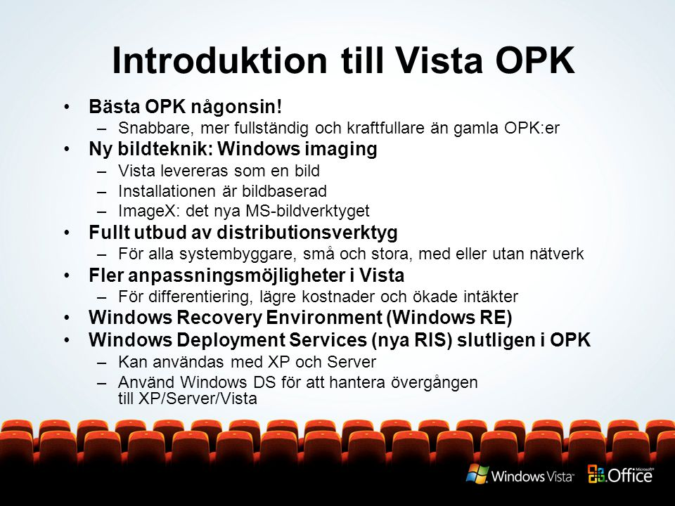 Introduktion till Vista OPK