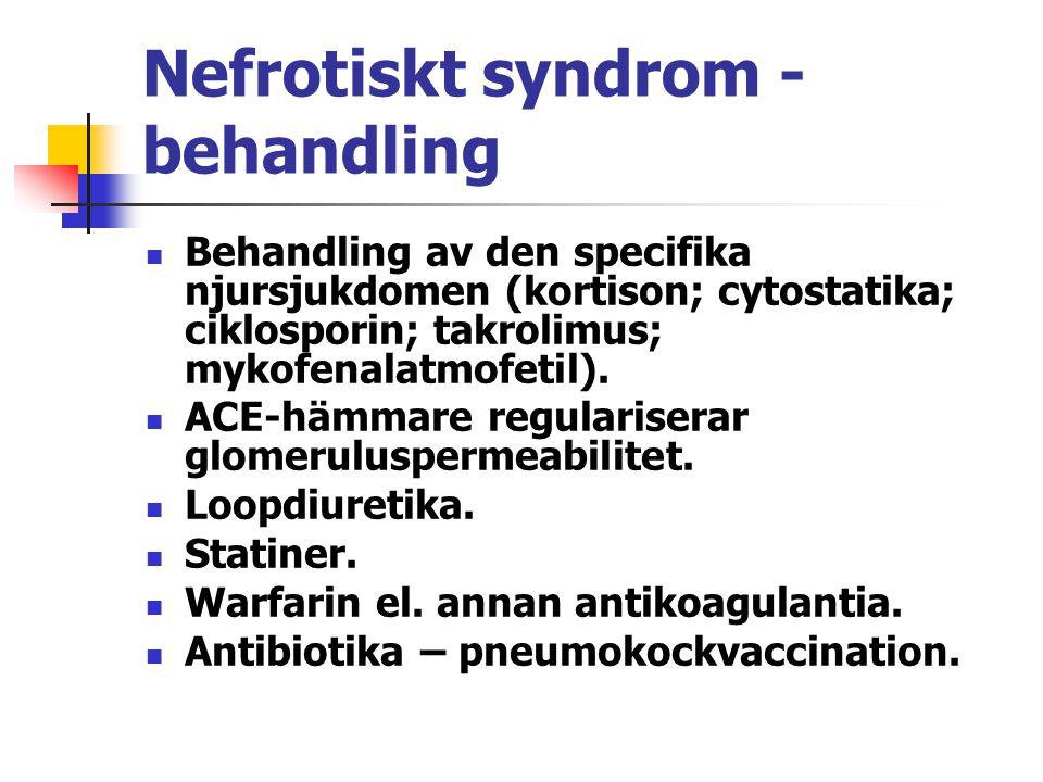 Nefrotiskt syndrom - behandling