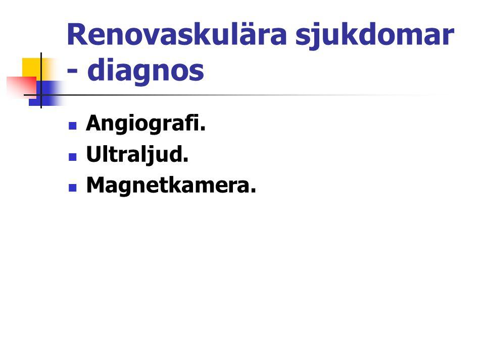Renovaskulära sjukdomar - diagnos