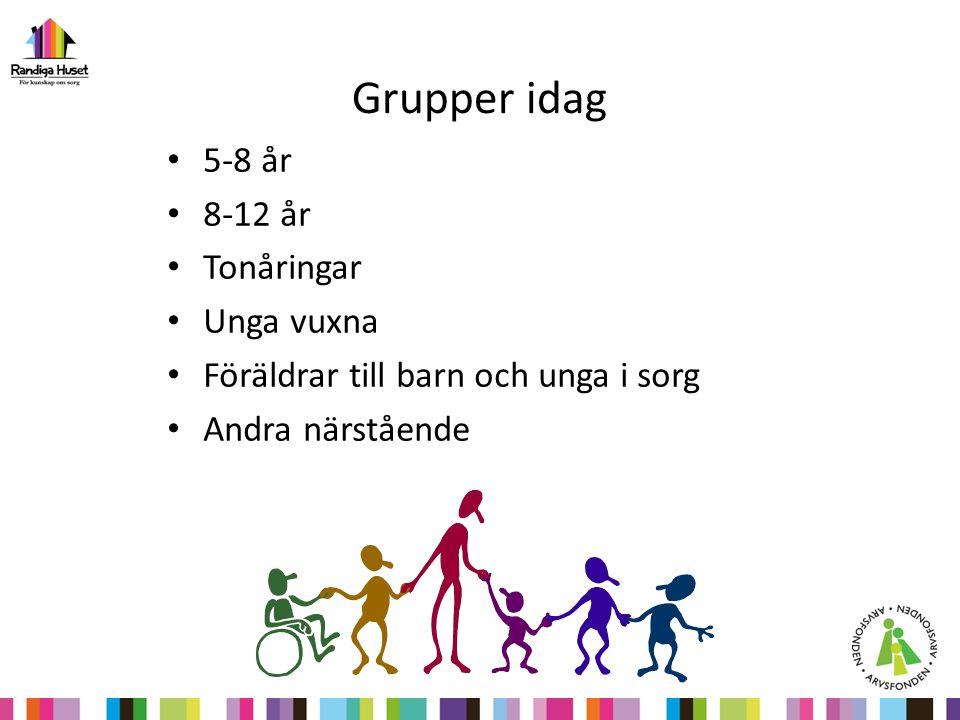 Grupper idag 5-8 år 8-12 år Tonåringar Unga vuxna