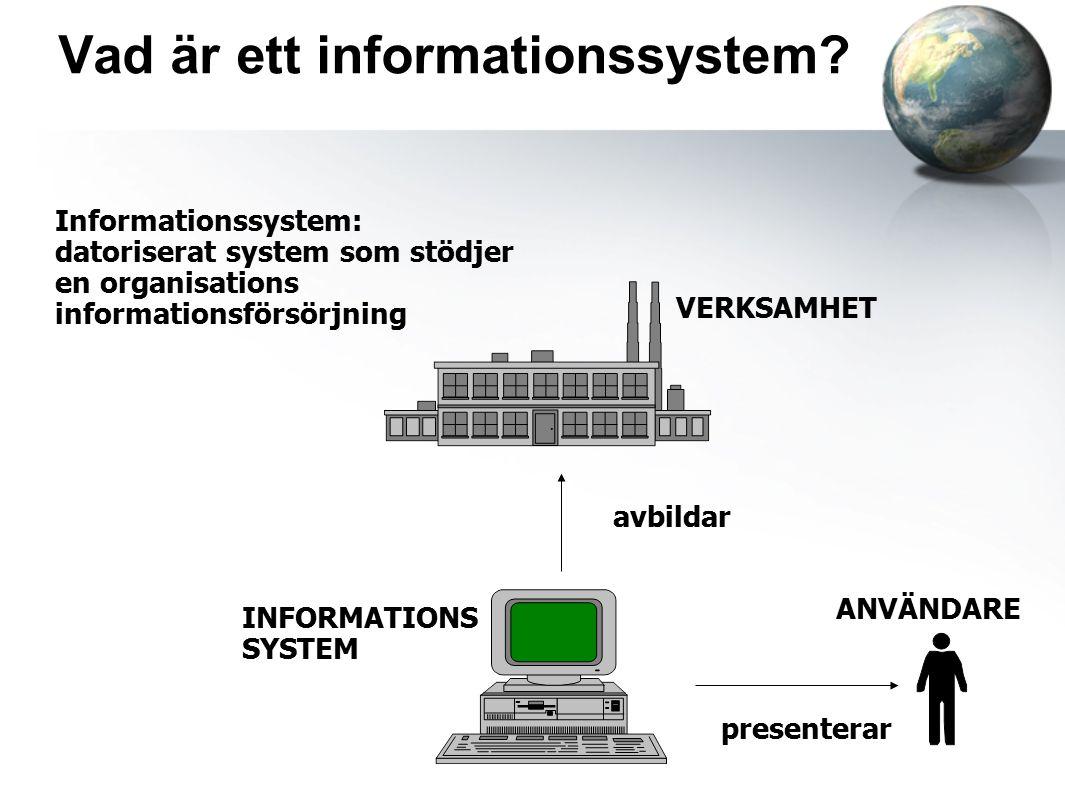 Vad är ett informationssystem