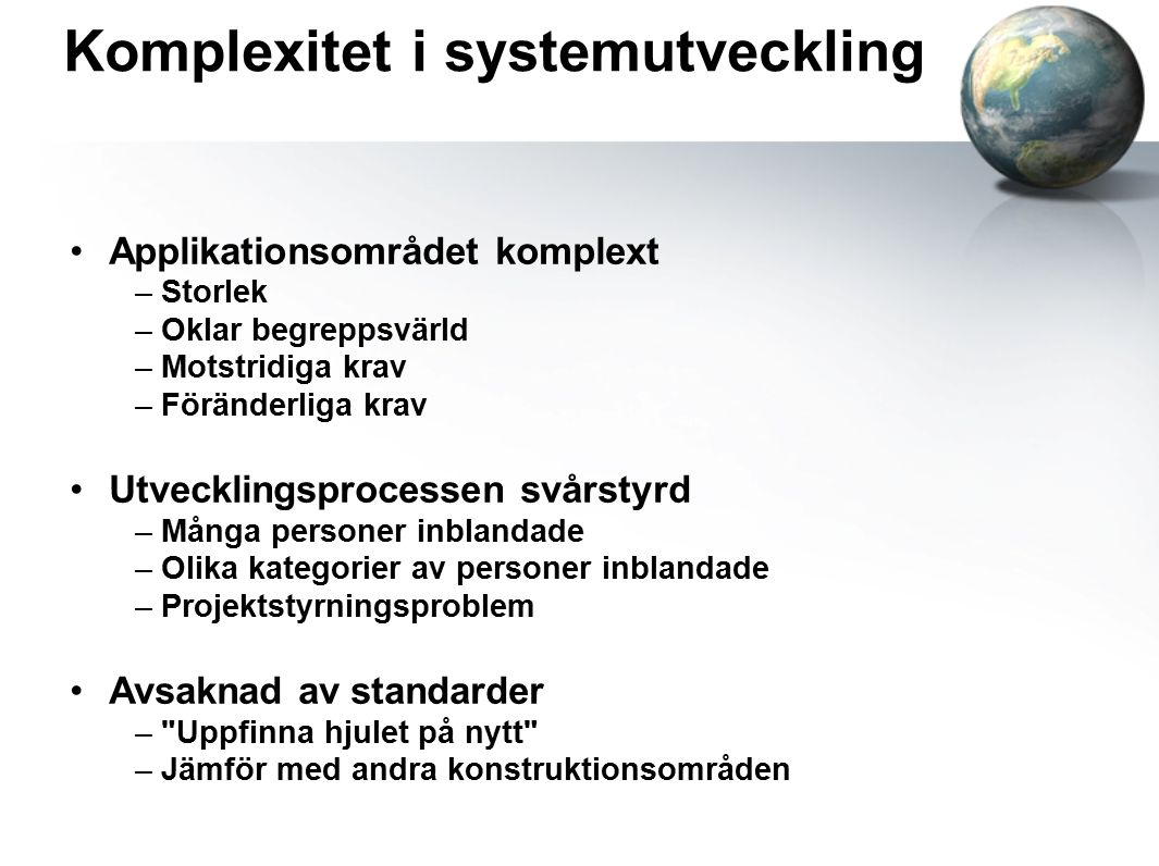 Komplexitet i systemutveckling