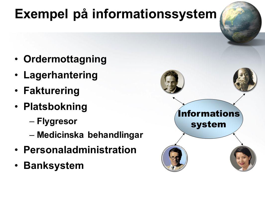 Exempel på informationssystem